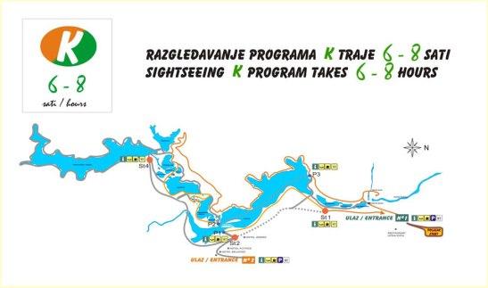 Mapa del Parque que señaliza el recorrido más largo (6-8 h)
